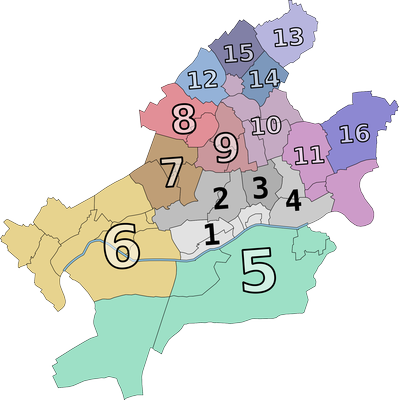 Ortsbezirke in Frankfurt